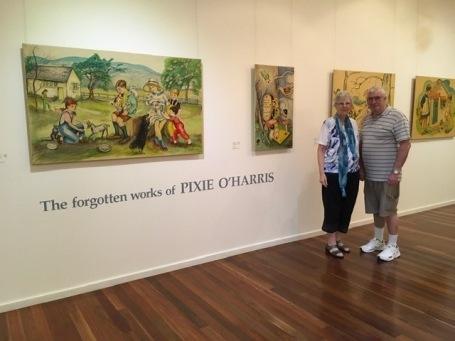 The visit to Pixie O'Harris - The Forgotten works of; Pixie O'Harris Exhibition at Manning Regional Art Gallery, Tare--